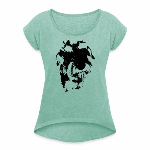 MACHIN <3 - Camiseta con manga enrollada mujer