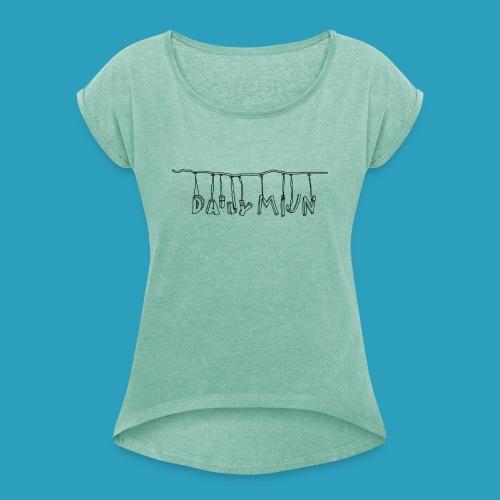 opnieuw png - Vrouwen T-shirt met opgerolde mouwen