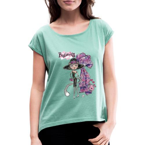 Pantherilly Tiffany - Maglietta da donna con risvolti