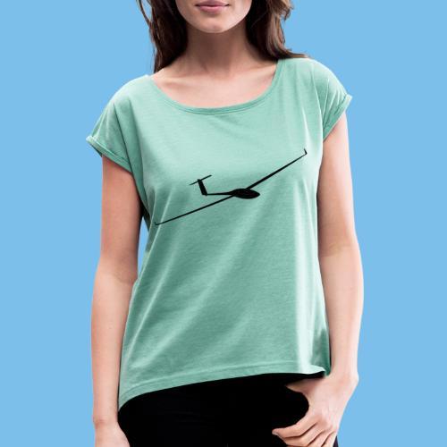 Segelflugzeug GP14 Segelflieger Geschenk gleiten - Frauen T-Shirt mit gerollten Ärmeln