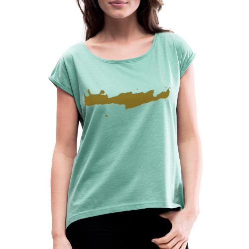 kriti silhouette - Frauen T-Shirt mit gerollten Ärmeln