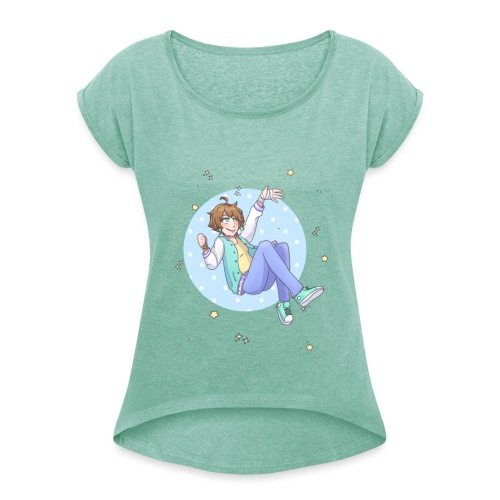 Galaxy Girl - Camiseta con manga enrollada mujer