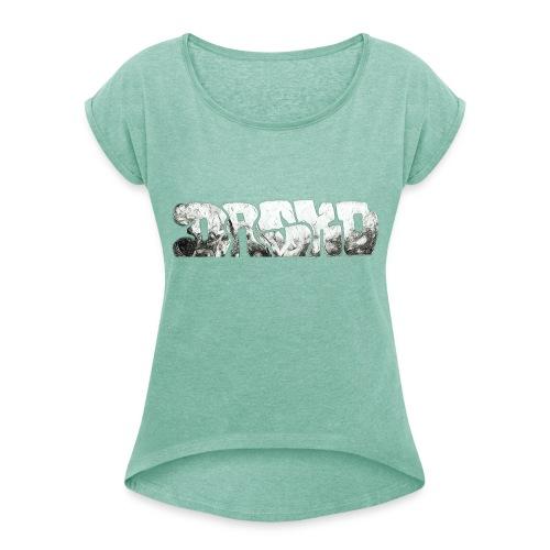 Dasko - Frauen T-Shirt mit gerollten Ärmeln