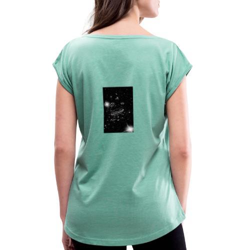 La tête dans les étoiles - T-shirt à manches retroussées Femme
