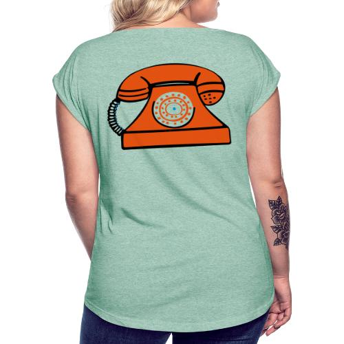 PHONERED - Women's T-Shirt with rolled up sleeves