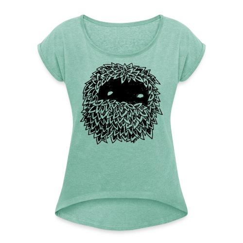 Leaves Bounoz by www.mata7ik.com - T-shirt à manches retroussées Femme