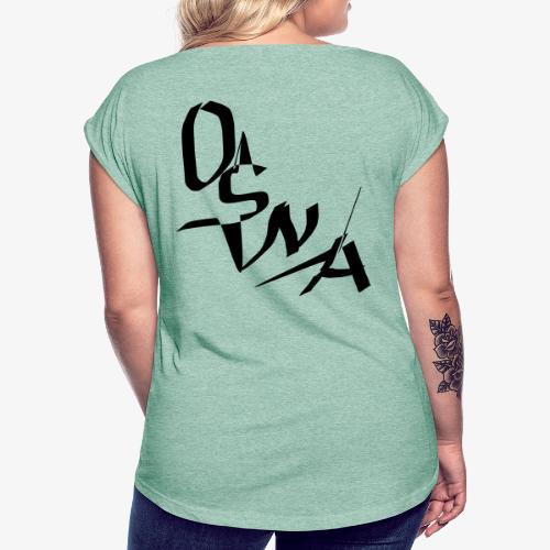OSNA COMPANY - Koszulka damska z lekko podwiniętymi rękawami