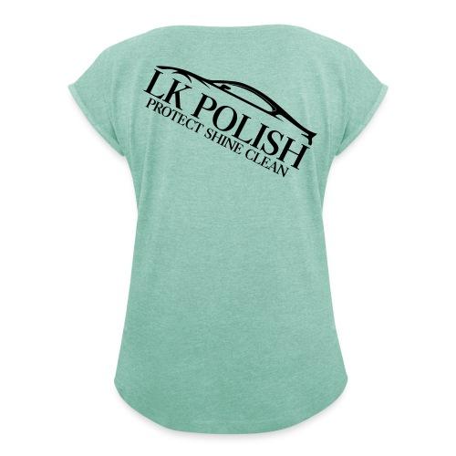 Logo Transparent - Frauen T-Shirt mit gerollten Ärmeln