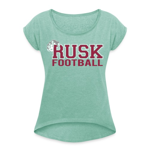 RUSKHIGHFB v - Women's T-Shirt with rolled up sleeves