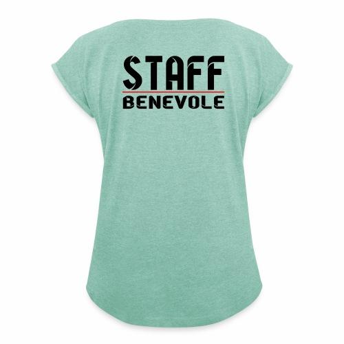 staff benevole - T-shirt à manches retroussées Femme