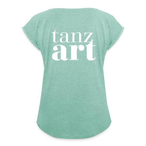 logo design no atelier - Frauen T-Shirt mit gerollten Ärmeln