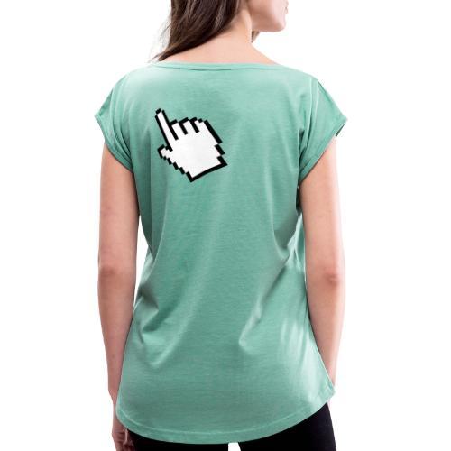 Pixelhand - Frauen T-Shirt mit gerollten Ärmeln