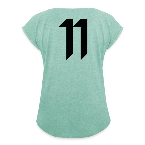 Olsson11 merch - T-shirt med upprullade ärmar dam