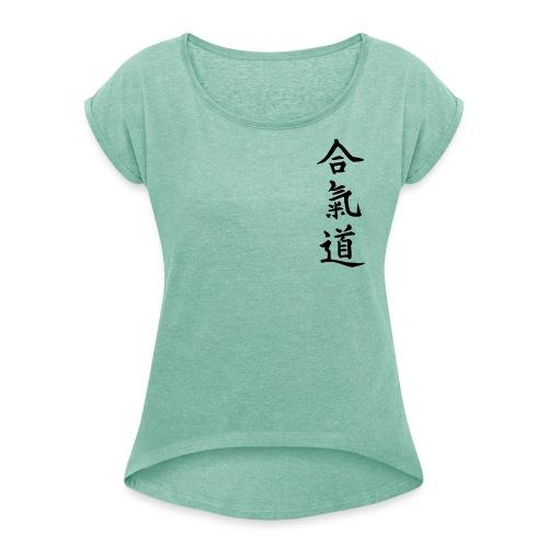 Aikido - Camiseta con manga enrollada mujer