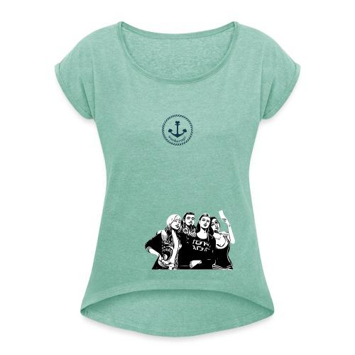 anchorage - Frauen T-Shirt mit gerollten Ärmeln