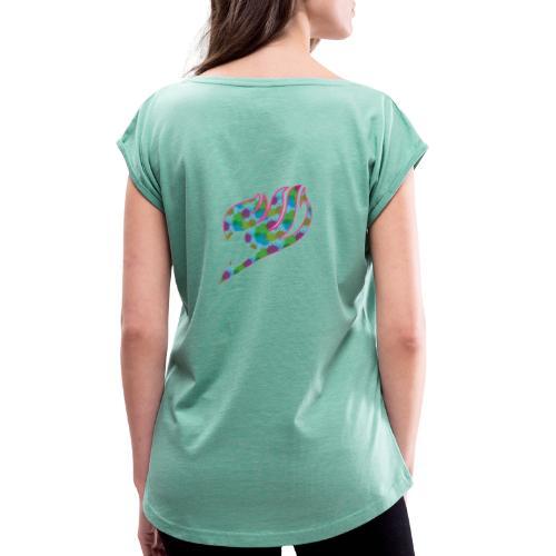 Fairytail M001 - T-shirt à manches retroussées Femme