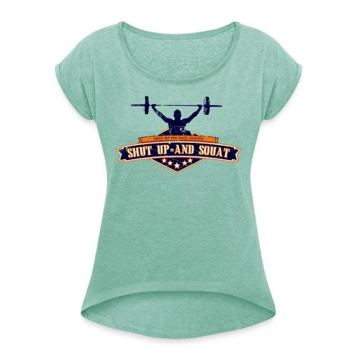 shutup v1 - T-shirt à manches retroussées Femme