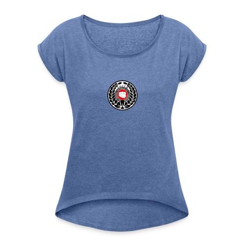 Kunibakai logo - T-shirt med upprullade ärmar dam