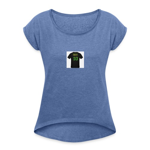 ADAM NERA - Maglietta da donna con risvolti