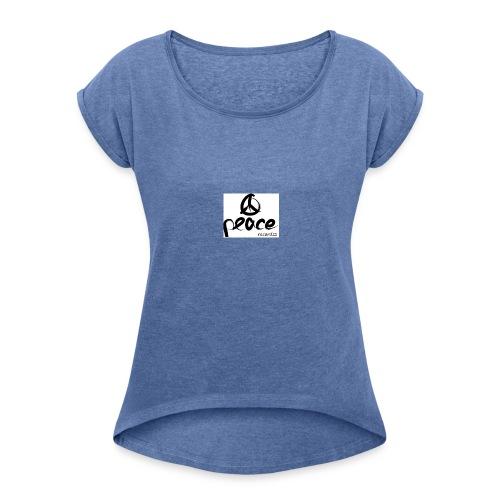 Peace_recordzz_Prod - Frauen T-Shirt mit gerollten Ärmeln