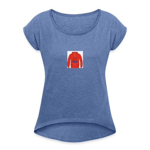 fed bilide - Dame T-shirt med rulleærmer