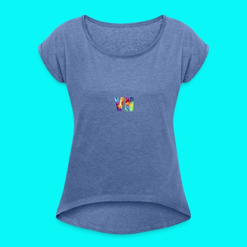 Velocity Networks Coloured Logo! - Women's T-shirt with rolled up sleeves