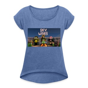 rebbeozelot19 SkyWars T-Shirt - Women's T-shirt with rolled up sleeves