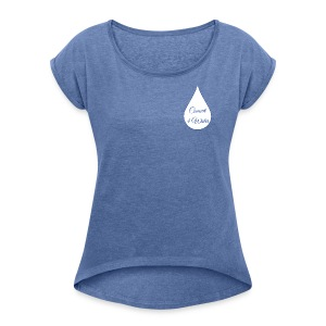 Concert 4 Water's Image Logo - Women's T-shirt with rolled up sleeves
