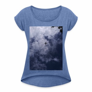 Fly High Photography - Women's T-shirt with rolled up sleeves