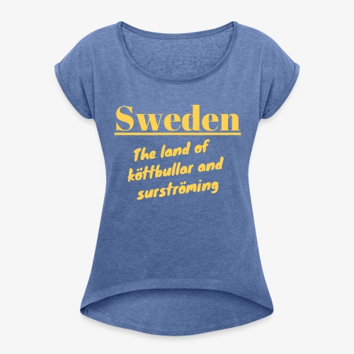Landet av köttbullar - T-shirt med upprullade ärmar dam
