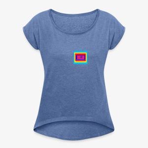 the box of universe - Women's T-shirt with rolled up sleeves