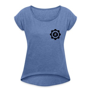 Jebus Adventures Logo (Transparent) - Women's T-shirt with rolled up sleeves