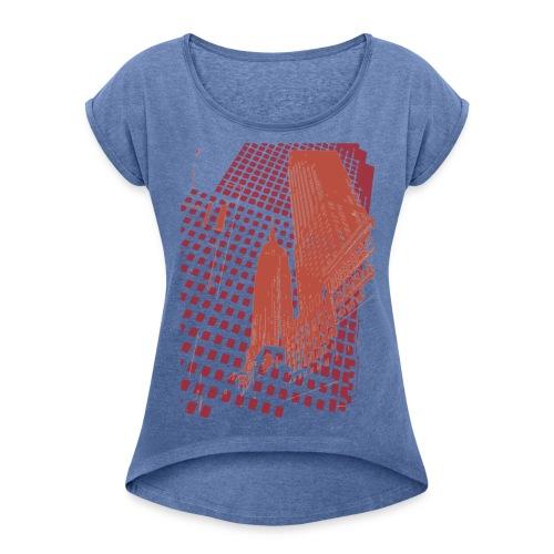 Digital Landscape - Camiseta con manga enrollada mujer