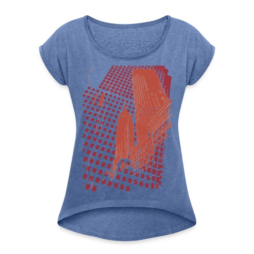 Digital Landscape - Women's T-shirt with rolled up sleeves