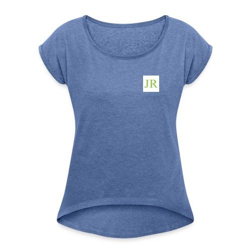 joci rap - Vrouwen T-shirt met opgerolde mouwen