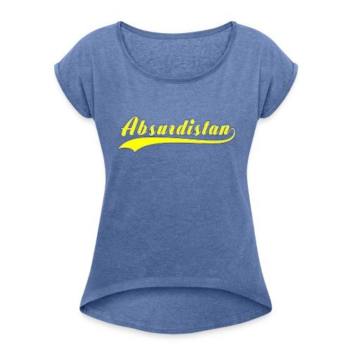 Absurdistan - T-shirt med upprullade ärmar dam