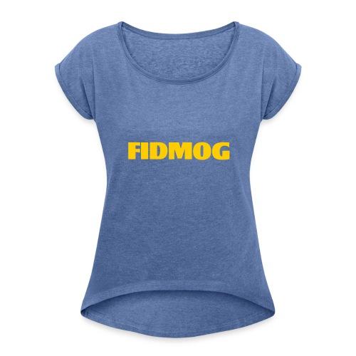 EGG YOLK - Frauen T-Shirt mit gerollten Ärmeln