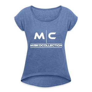 MC / Misko Collection - Frauen T-Shirt mit gerollten Ärmeln
