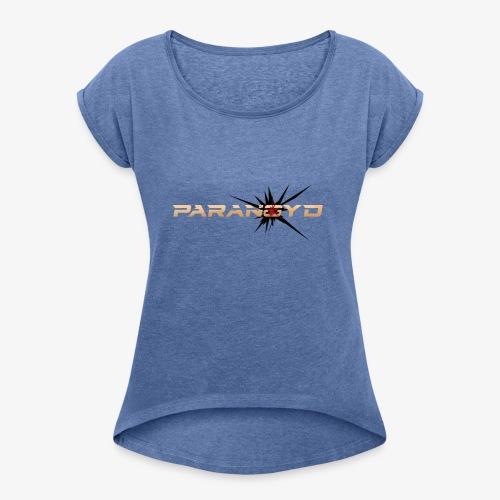 Paranoyd-Logo - Frauen T-Shirt mit gerollten Ärmeln