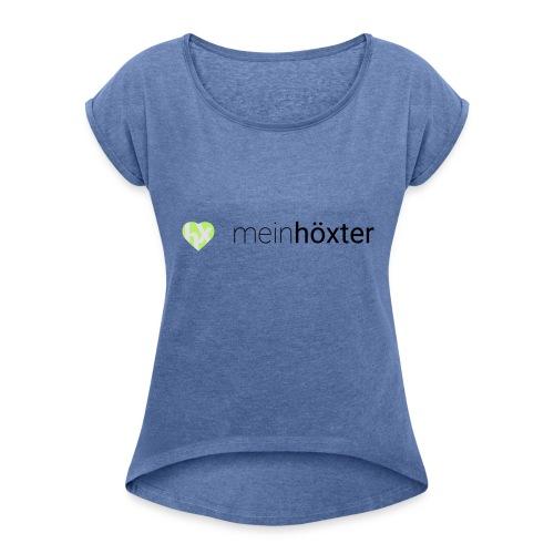 Mein Höxter Logo - Frauen T-Shirt mit gerollten Ärmeln