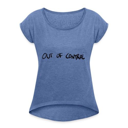 Black - T-shirt med upprullade ärmar dam