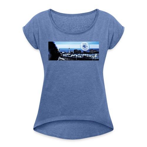 Skyline / Logo Can T - Shirt - Frauen T-Shirt mit gerollten Ärmeln