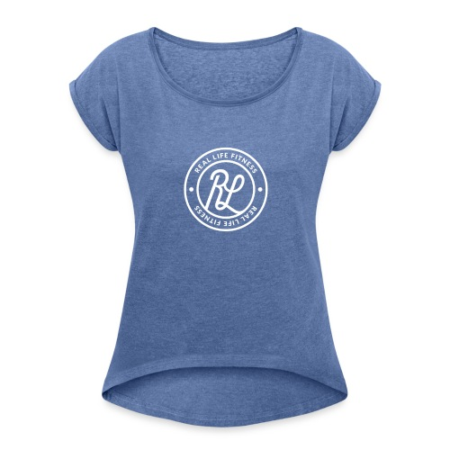 RLF Badge White - Women's T-shirt with rolled up sleeves