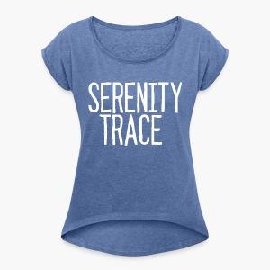 Serenity Trace LOGO W - T-skjorte med rulleermer for kvinner