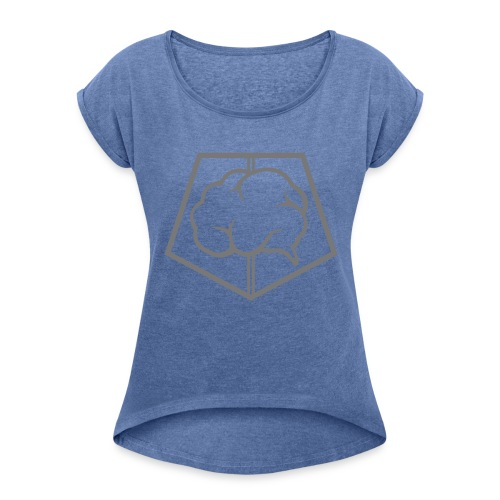 brainless-logo-grey - Maglietta da donna con risvolti