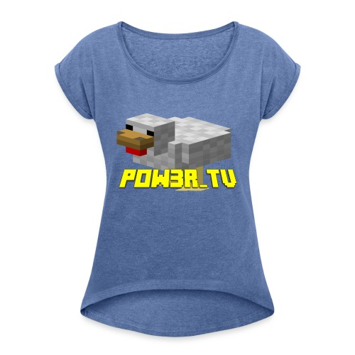POW3R - Maglietta da donna con risvolti