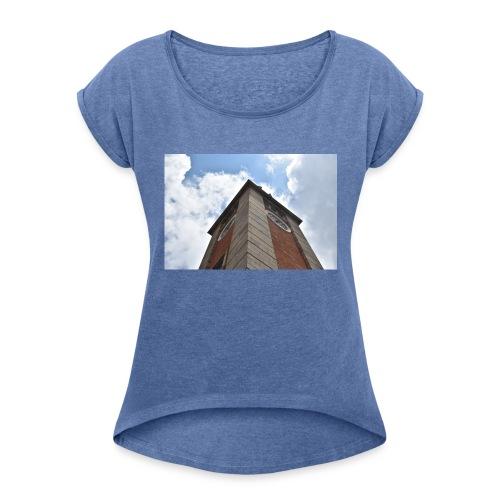 torre dell'orologio - Maglietta da donna con risvolti