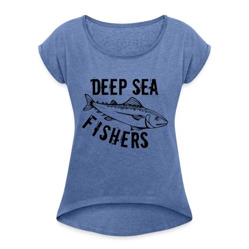DSF - Naisten T-paita, jossa rullatut hihat