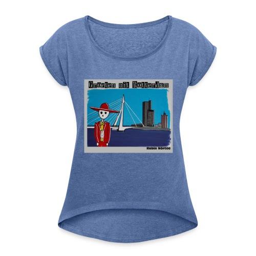 zwaan - Vrouwen T-shirt met opgerolde mouwen