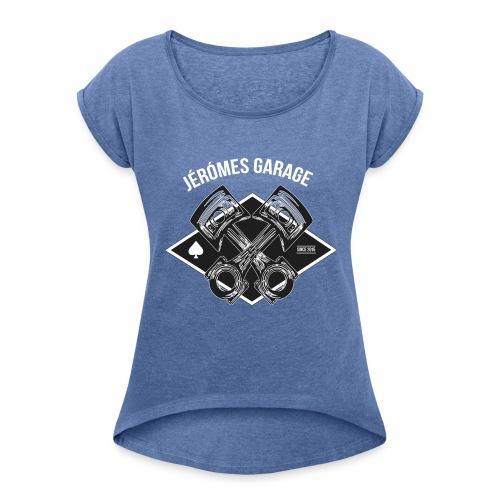 Classic - Frauen T-Shirt mit gerollten Ärmeln